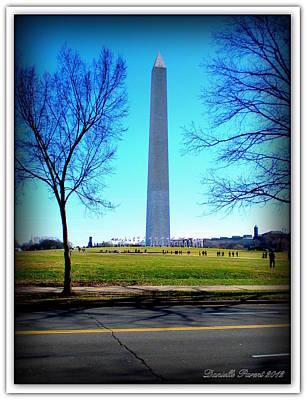 Poster featuring the photograph Memorials Washington  D.c. by Danielle  Parent