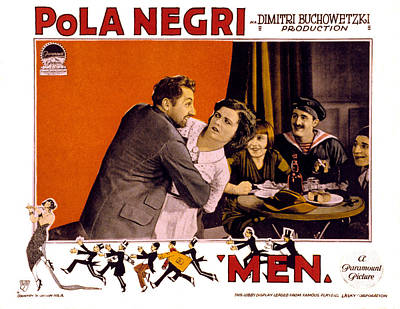 Men, Pola Negri, 1924 Poster by Everett