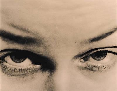 Menacing Eyes Poster by Cristina Pedrazzini