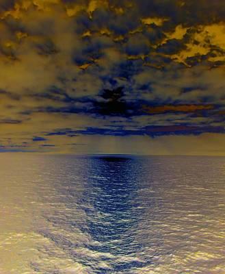 Menacing Seas Poster by Randall Weidner