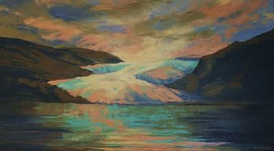 Mendenhall Glacier Poster by Peggy Wrobleski