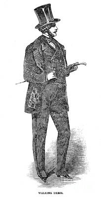 Mens Fashion, 1850 Poster
