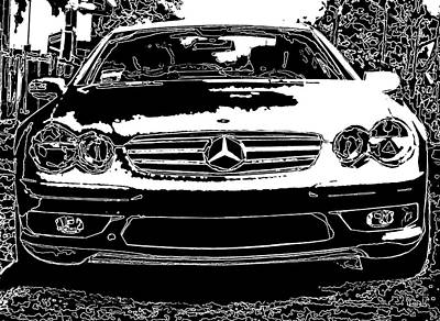 Mercedes Benz Sl 500 Poster by Samuel Sheats