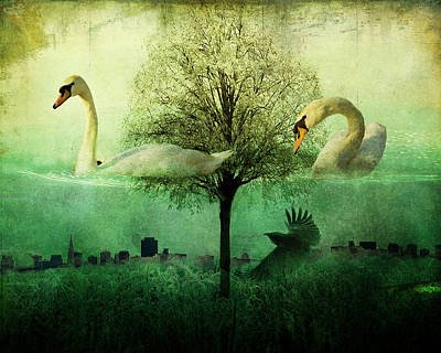 Merging Worlds Poster by Su Ferguson - Don Burkheimer