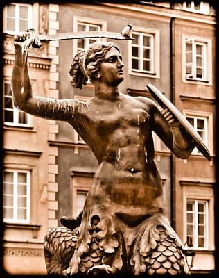 Warsaw, Poland - Mermaid Poster