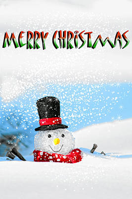 Merry Christmas Poster by Billie-Jo Miller