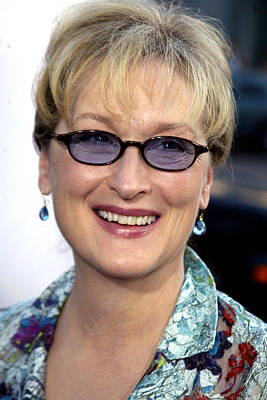Meryl Streep At The Premiere Of The Poster by Everett