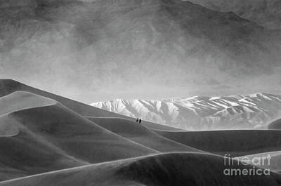 Death Valley California Mesquite Dunes 13 Poster by Bob Christopher