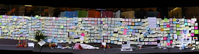 Messages To Steve Jobs . Rip . San Francisco Apple Store Memorial . Right Side . October 5 2011 Poster by Wingsdomain Art and Photography