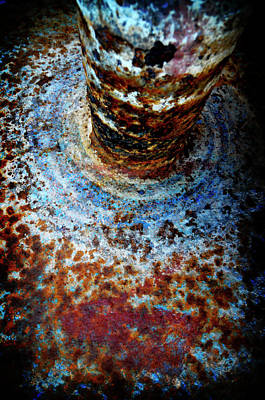 Poster featuring the photograph Metallic Fluid by Pedro Cardona
