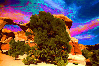 Poster featuring the photograph Metate Arch Dream by Gregory Scott