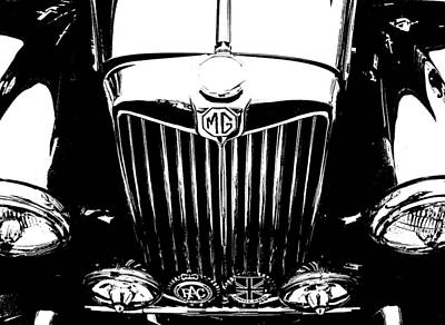Mg Grill Black And White Poster by Nick Kloepping