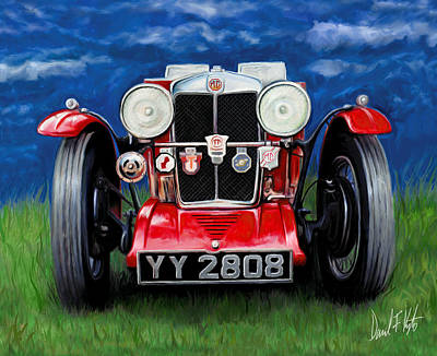 Mg Ta Sports Car Poster by David Kyte