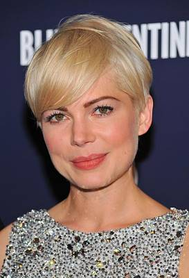 Michelle Williams At Arrivals For Blue Poster by Everett