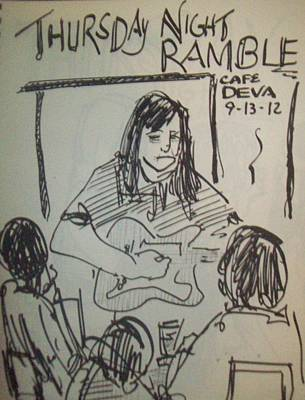 Micole At Thursday Night Ramble  Poster by James Christiansen