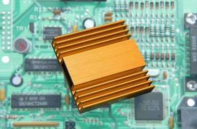 Microchip Processor Heat Sink Poster by Sheila Terry