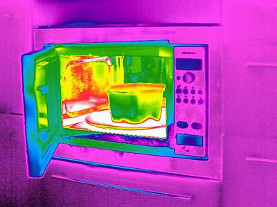 Microwave, Thermogram Poster by Tony Mcconnell
