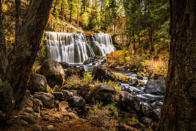 Poster featuring the photograph Middle Falls Mccloud River -2 by Randy Wood