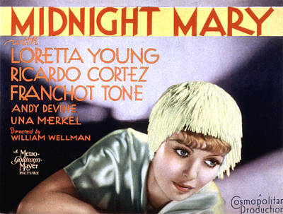 Midnight Mary, Loretta Young, 1933 Poster by Everett