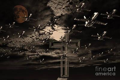 Midnight Raid Under The Golden Moonlight Poster