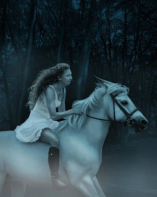 Poster featuring the photograph Midnight Ride Through The Forest by Ethiriel  Photography