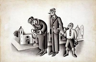 Miguel Covarrubias 1904-1957 Cartoon Poster