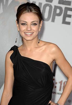 Mila Kunis Wearing Neil Lane Earrings Poster by Everett