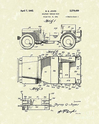 Military Vehicle 1942 Patent Art Poster