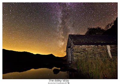 Milky Way Above The Old Boathouse Poster