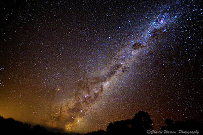 Poster featuring the photograph Milky Way Down Under by Charles Warren