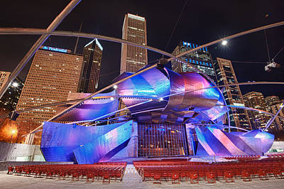 Poster featuring the photograph Millennium Park by Sebastian Musial