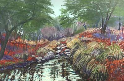 Poster featuring the painting Miller Canyon Creek by Drusilla Montemayor