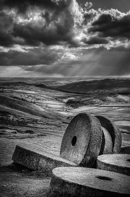 Millstones On The Moor Poster by Andy Astbury
