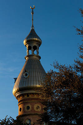 Poster featuring the photograph Minaret And Trees by Ed Gleichman