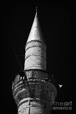 minaret of the grand mosque of djami kebir camil Limassol lemesos republic of cyprus europe Poster