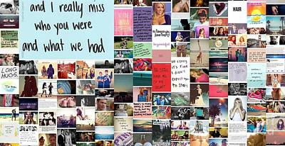 Poster featuring the digital art Miss What We Had by Holley Jacobs