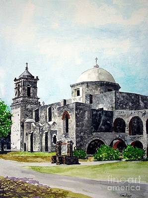 Poster featuring the painting Mission San Jose Two by Tom Riggs