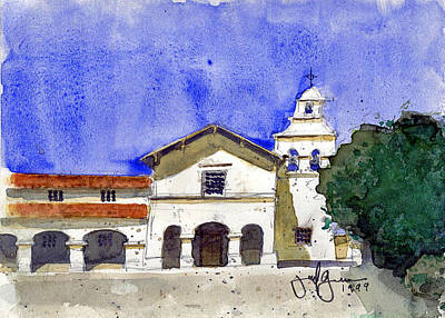 Mission San Juan Bautista Poster by Jerry Grissom