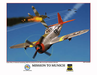 Mission To Munich Poster by Jerry Taliaferro