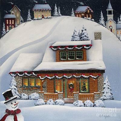 Mistletoe Cottage Poster by Catherine Holman