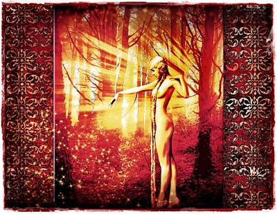 Poster featuring the photograph Mistress Of The Forest 2 by Mary Morawska