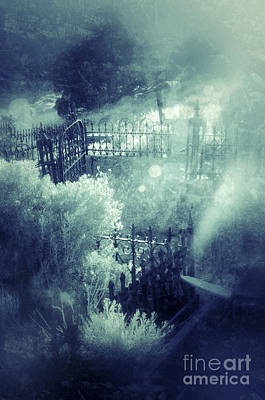 Misty Graveyard Poster by Jill Battaglia