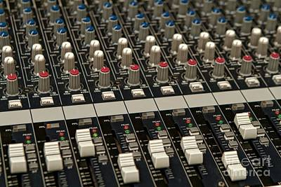 Poster featuring the photograph Mixing Console by Kim Wilson