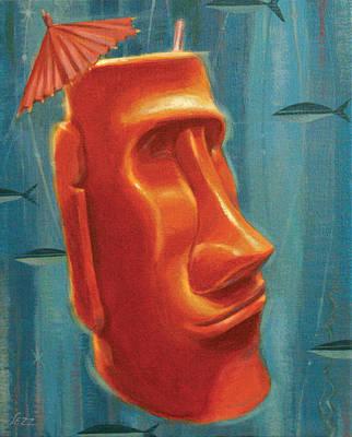 Moai Mai Tai Poster