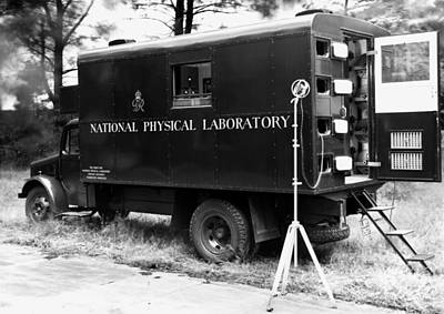 Mobile Acoustics Laboratory, 1940s Poster by National Physical Laboratory (c) Crown Copyright