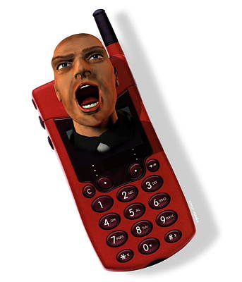 Mobile Phone Rage Poster by Victor Habbick Visions