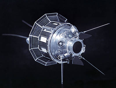 Model Of The Luna 3 Spacecraft Poster