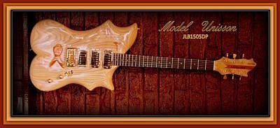 Poster featuring the photograph Model Unisson Jlb1505dp Custom Guitar by Danielle  Parent