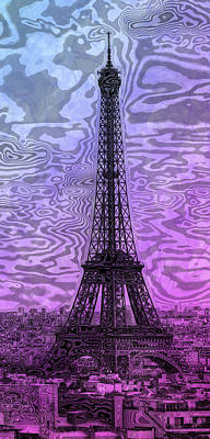 Modern-art Eiffel Tower 14 Poster by Melanie Viola