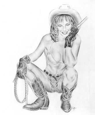 Modern Cowgirl Poster